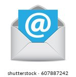 email icon website contact us... | Shutterstock .eps vector #607887242