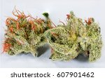 powerful marijuana buds | Shutterstock . vector #607901462