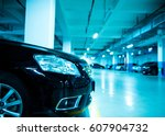parking lot in an underground... | Shutterstock . vector #607904732