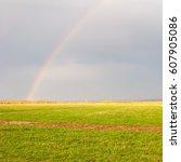 plain landscape wit leaden...   Shutterstock . vector #607905086