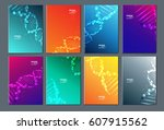 dna modern abstract composition.... | Shutterstock .eps vector #607915562