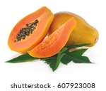 Papaya Fruits Isolated On White ...