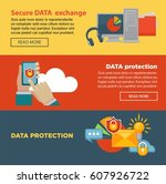 secure data exchange and... | Shutterstock .eps vector #607926722