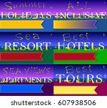 cards for travel business....   Shutterstock . vector #607938506