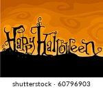 halloween greetings written in... | Shutterstock .eps vector #60796903