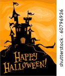 halloween themed design... | Shutterstock .eps vector #60796936