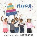 children early education... | Shutterstock . vector #607973852