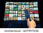 screens forming a big... | Shutterstock . vector #607997036