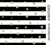 glitter stripe seamless pattern ... | Shutterstock .eps vector #608003825