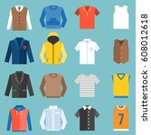 male clothes fashion for top ... | Shutterstock .eps vector #608012618