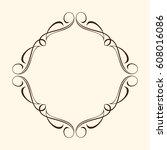 calligraphic frames.vector... | Shutterstock .eps vector #608016086