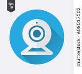 webcam flat icon. simple sign...   Shutterstock .eps vector #608017502