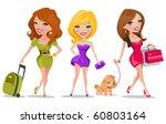 cute girls | Shutterstock .eps vector #60803164