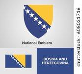 bosnia and herzegovina national ... | Shutterstock .eps vector #608031716