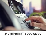 dialing telephone keypad... | Shutterstock . vector #608032892