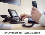 dialing telephone keypad... | Shutterstock . vector #608032895