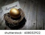 golden nest egg concept for... | Shutterstock . vector #608032922