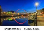 early evening on newcastle...   Shutterstock . vector #608035208