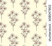 vector seamless pattern with... | Shutterstock .eps vector #608047802