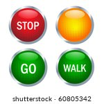 traffic light | Shutterstock .eps vector #60805342