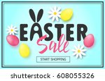 easter sale banner background... | Shutterstock .eps vector #608055326