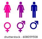 male  female and transgender ... | Shutterstock .eps vector #608059508