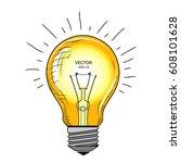 vector light bulb with concept... | Shutterstock .eps vector #608101628