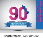 years anniversary celebration... | Shutterstock .eps vector #608104052