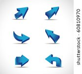 vector arrows | Shutterstock .eps vector #60810970