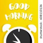 vector illustration with alarm... | Shutterstock .eps vector #608110136