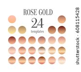 Stock vector rose gold gradient collection for fashion design vector illustration 608115428