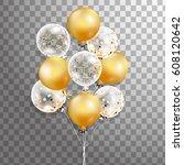 3d vector holiday illustration... | Shutterstock .eps vector #608120642