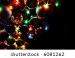 xmas color ligts on the black... | Shutterstock . vector #6081262