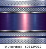 background metallic silver with ... | Shutterstock .eps vector #608129012