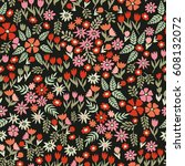 floral carpet. seamless vector... | Shutterstock .eps vector #608132072