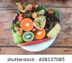 fruits salad   Shutterstock . vector #608137085