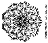 mandalas for coloring book.... | Shutterstock .eps vector #608137802