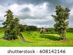 rural house farm in wind...   Shutterstock . vector #608142146