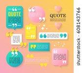 modern block quote design...   Shutterstock .eps vector #608143766