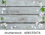 spring background  cherry... | Shutterstock . vector #608155676