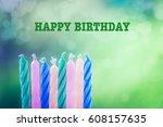 happy birthday | Shutterstock . vector #608157635