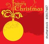 merry christmas card | Shutterstock .eps vector #60817687
