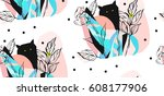 hand drawn vector abstract... | Shutterstock .eps vector #608177906