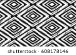 hand drawn seamless tribal... | Shutterstock .eps vector #608178146