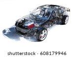 model cars on a white... | Shutterstock . vector #608179946