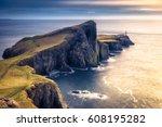 neist point  highlands  ... | Shutterstock . vector #608195282