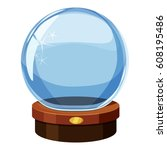 magic future crystal ball icon. ... | Shutterstock .eps vector #608195486