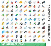 100 business icons collection...