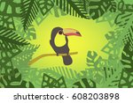 toucan vector | Shutterstock .eps vector #608203898