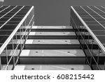 urban geometry  looking up to... | Shutterstock . vector #608215442